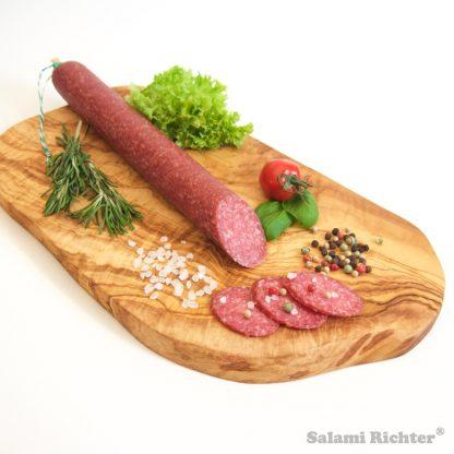 Angeschnittene Wildschwein Salami