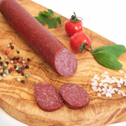 Angeschnittene Rind Salami